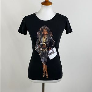 Moschino Couture Barbie Black T-Shirt, Small